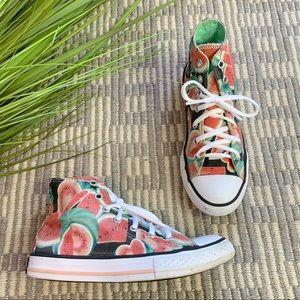 Converse kids high top watermelon print sneaker
